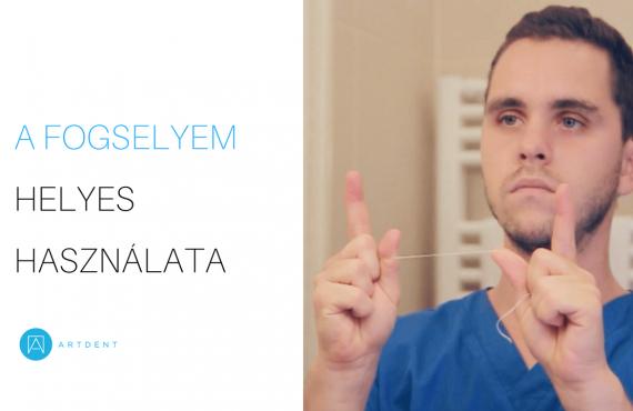 Dr. Varajti Artúr megmutatja hogyan kell helyes használni a fogselymet.